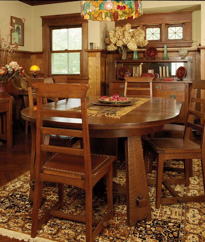 Craftsman Style Dining Room Furniture: Differences Between Art Nouveau And Arts And Crafts Design