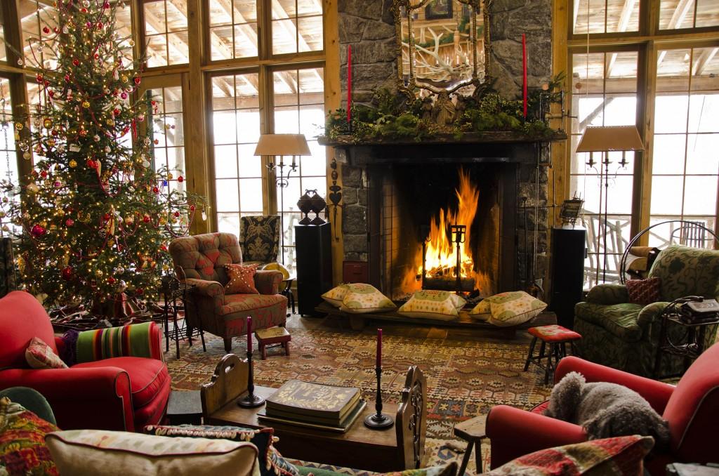 Log Cabin Christmas.Log Cabin Christmas Design Ideas