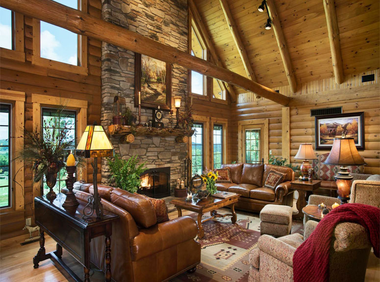 3 ways to brighten up the interior of a log cabin home barn