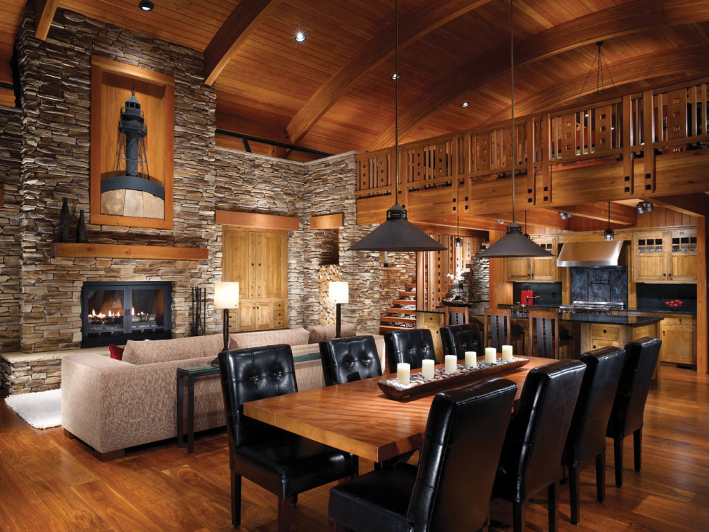 The Log Cabin Table Setting, Log Cabin Dining Room Chairs