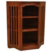 22 X 36 Mission Spindle Corner Bookcase