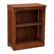 24 X 30 Solid Oak Mission Spindle Bookcases