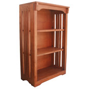 24 X 36 Solid Oak Mission Spindle Bookcases