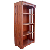 24 X 48 Solid Oak Mission Spindle Bookcases