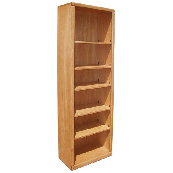 Contemporary 24 X 72 Oak Bookcase Bcc247212l