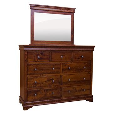 amish traditional lux 9drawer dresser w mirror