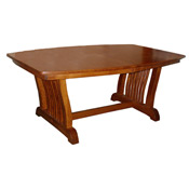 Amish Carlyl Split Base Dining Table W 6 Leaves