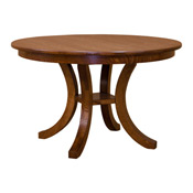 Mission Round Dining Table with 2 Leaves DRCVSPM36R240