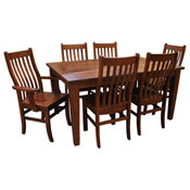 Amish Frontier Dining Set 6 W/ 4 Leaves
