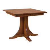 36 X Mission Square Dining Table With Leaves