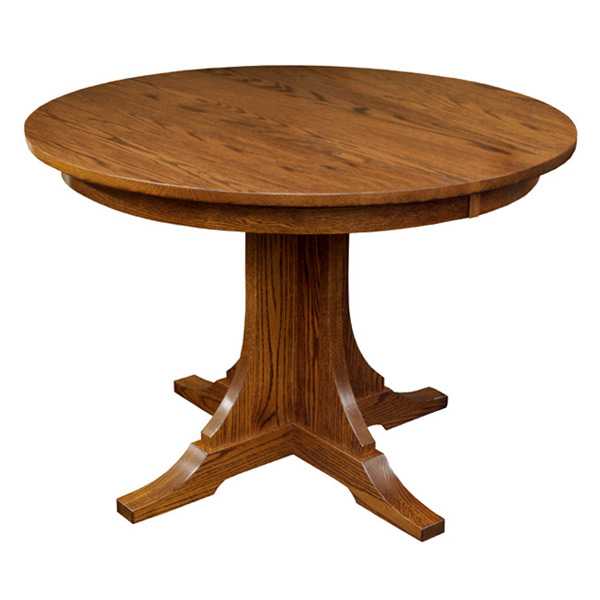 Mission 42 wood round dining table w leaf drcvspm42r120 for 42 dining table with leaf