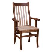 Rochester Arm Chair Wormy Maple Walnut