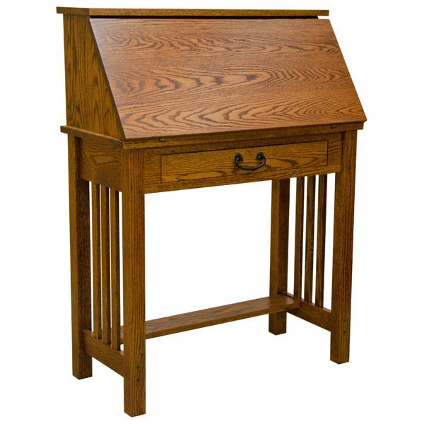 "Amish Computer Secretary Desk Armoire Modesto Solid Wood: 32"" Amish Mission Secretary Desk"