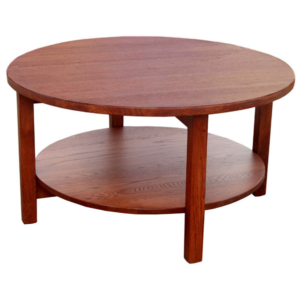 36 Mission Round Coffee Table Lfasm36rd19c