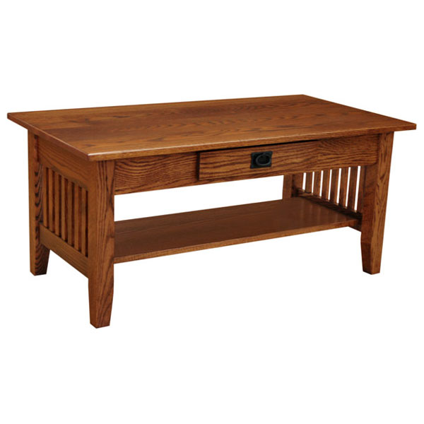 42quot x 22quot amish mission prairie coffee table lfaw04141pm0 for Amish oak coffee table