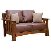 amish mission love seat - Mission Style Recliner