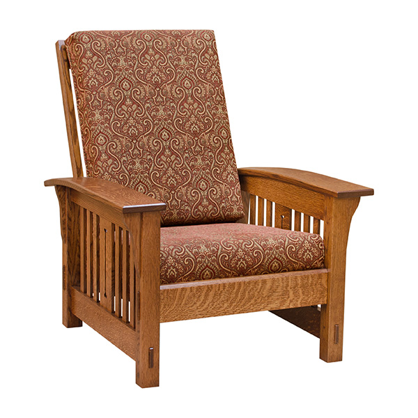 Amish Mission Morris Chair  sc 1 st  Barn Furniture & Morris Chairs - Recliners - Reclining Chairs - Oak Accent Chairs ... islam-shia.org