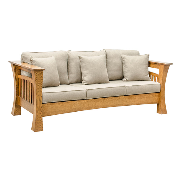 Mission Sofa Leather Craftsman Mission Style Queen Sleep