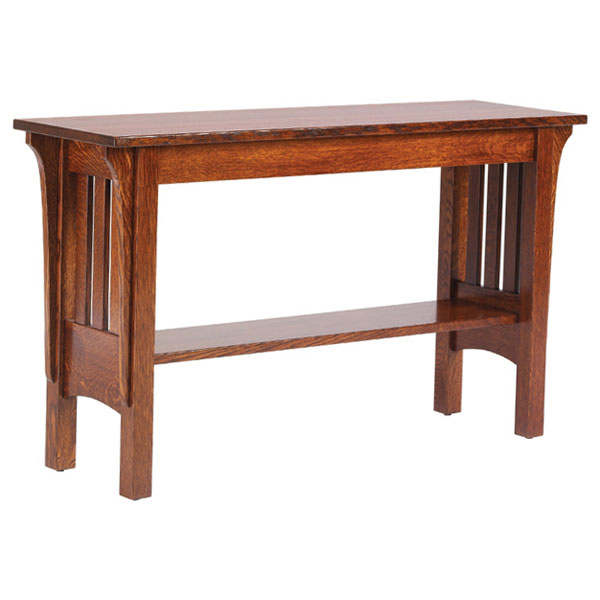 mission sofa tables - oak sofa tables - wood sofa tables