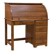 "44"" roll top mission desk - red oak - ofco700"