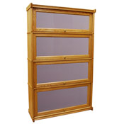 lawyers 4 bookcase light oak