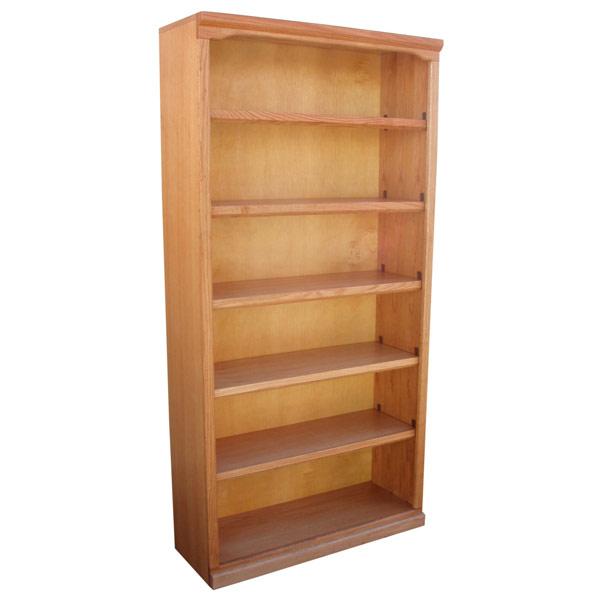 Traditional 36 X 72 Oak Bookcase