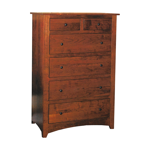 Economy Shaker 6 Drawer Chest