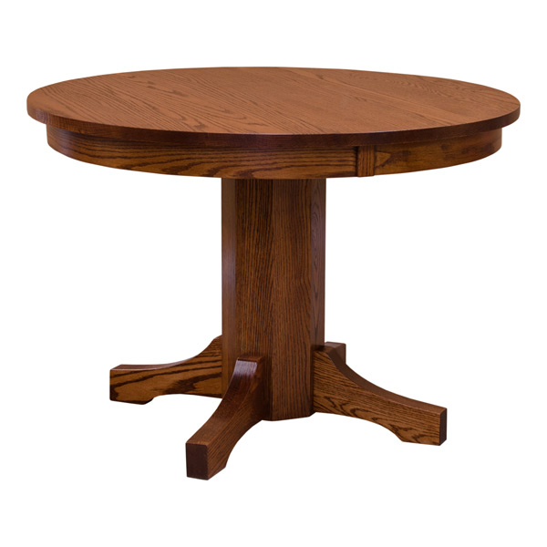 Mission Round Table.Mission Round Dining Table Red Oak