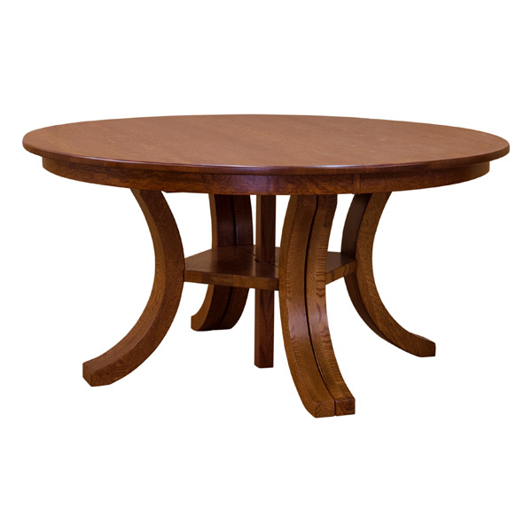 Carlyl Split Base Round Dining Table W 6 Leaves