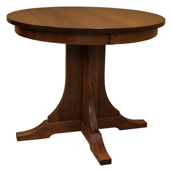 Amish 36 Quot Round Oak Dining Table Barn Furniture