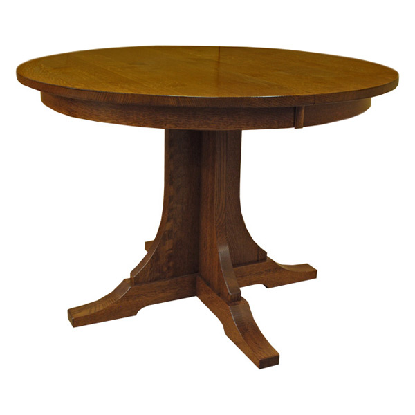 Amish Mission 42 Inch Round Dining Table Barn Furniture