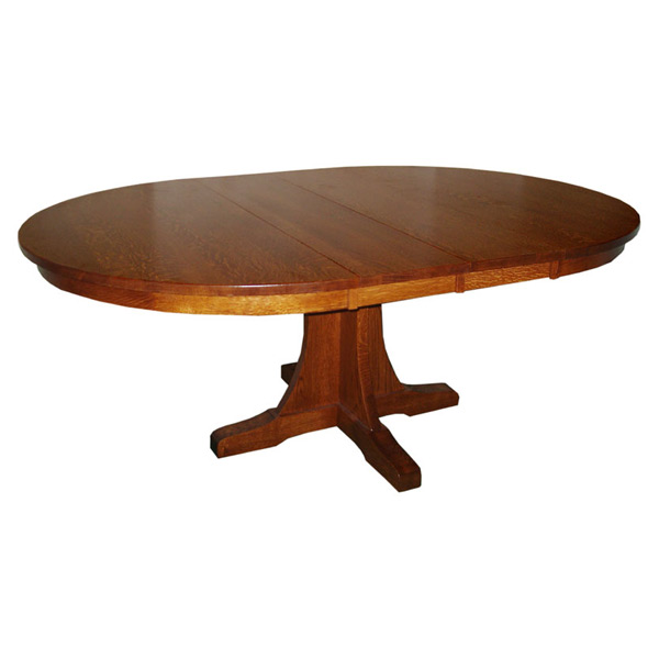 Mission 54 Round Dining Table W 2 Leaves