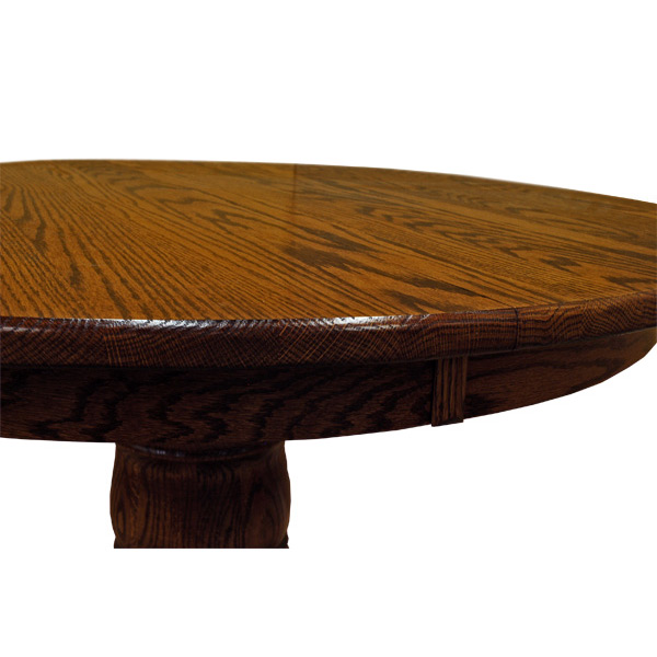 Amish 42 Round Pedestal Dining Table W, Round Pedestal Dining Table With Leaves