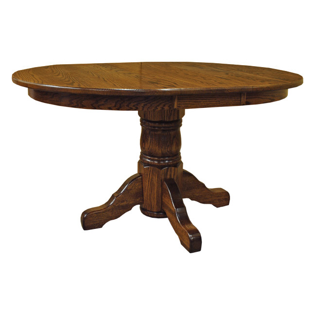 Amish 42 Quot Round Pedestal Dining Table W Leaf Made In Usa