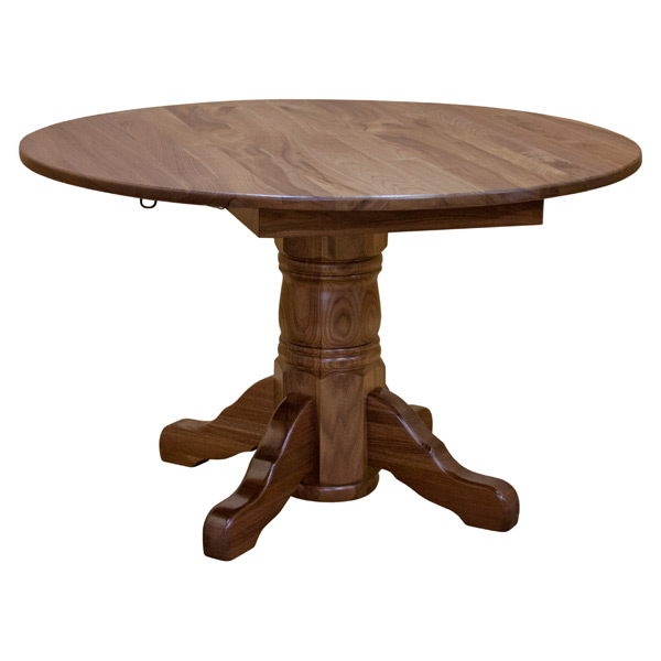 Walnut 48 Round Dining Table W Drop Leaf Barn Furniture