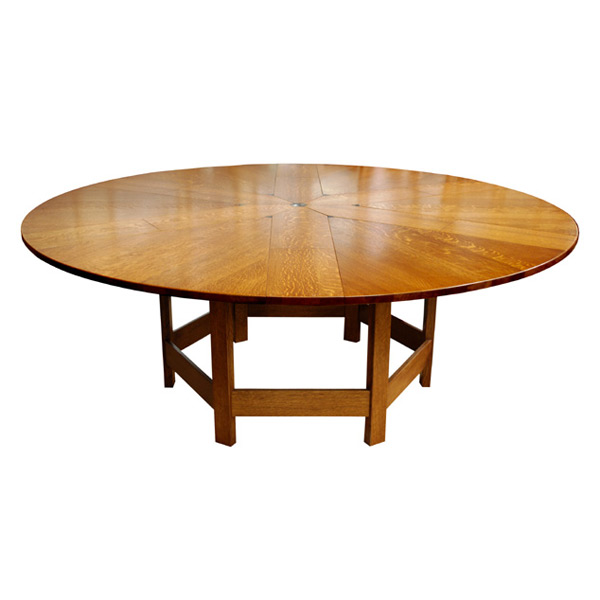 Henry Greene Puzzle Table Dining, Puzzle Round Table