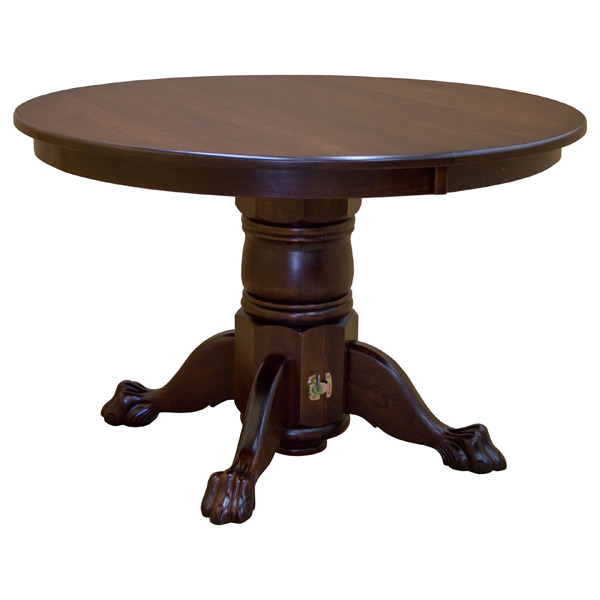 Split Base Solid Wood Round Dining Table W Leaves