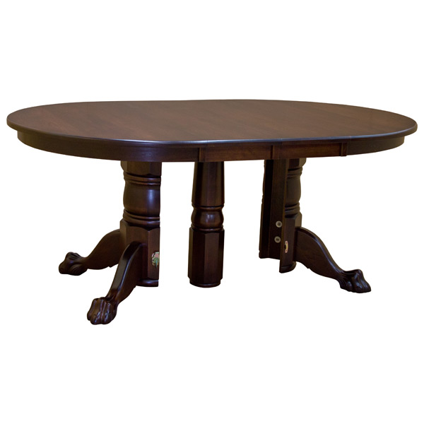 Split Base Solid Wood Round Dining Table W Leaves Dining Tables - Conference table with leaves