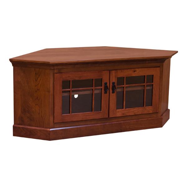 Rustic Cherry Corner Tv Stand Barn Furniture