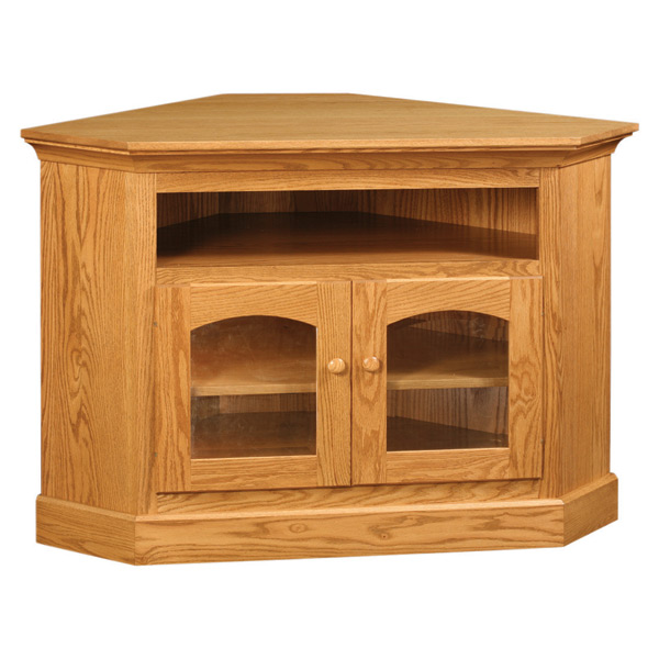 factory authentic bb9f2 17def Red Oak Corner TV Stand