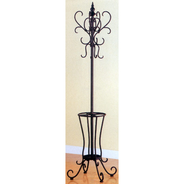 Curved Black Iron Coat Rack With Umbrella Holder Fascinating Iron Coat Rack