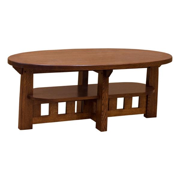 Charles Limbert Oval Coffee Table 1 4 White Oak