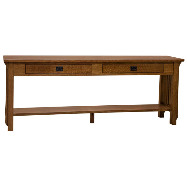 72 Amish Mission Spindle Sofa Table