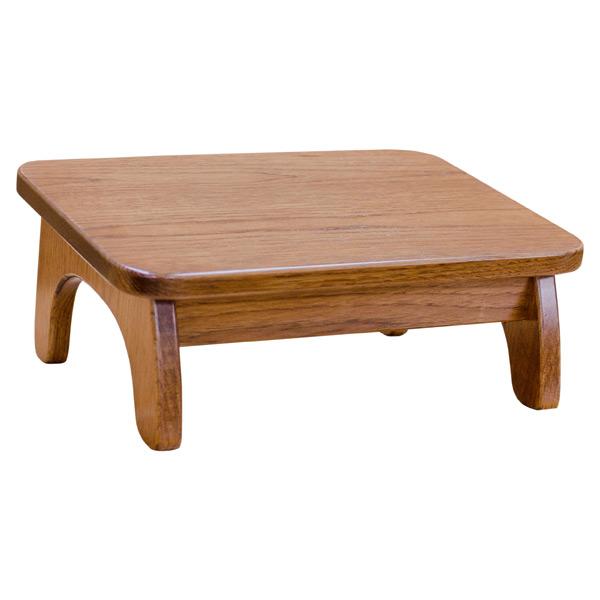 Slant Wood Foot Stool Elm Step Stools Barn Furniture