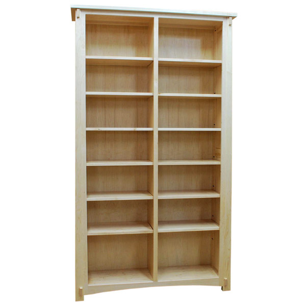 48 X 84 Amish Mission Hard Maple Bookcase