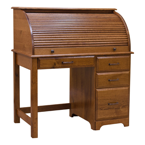 Small Roll Top Desk View Detailed Images 16