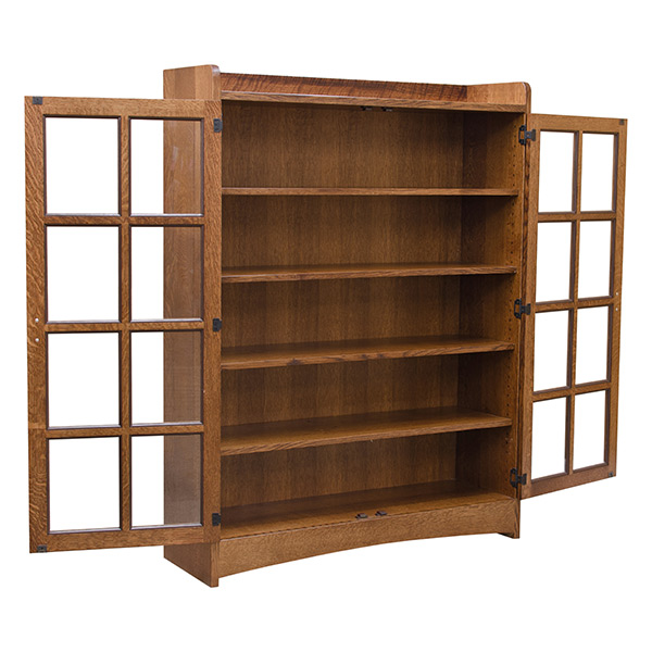Mission Bookcase W Glass Doors Bookcases Barn Furniture