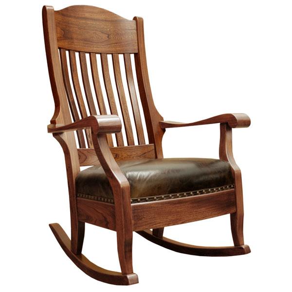 Amish Aunties Wide Rocker, Elm | Barn Furniture