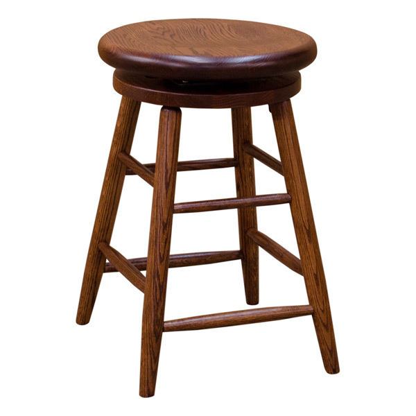 Swivel Bar Stool Red Oak Barstools Barn Furniture