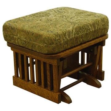 Amish Gliding Ottoman Ottomans Barn Furniture Craftsman